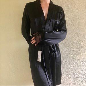 NWT Apt. 9 black tie robe